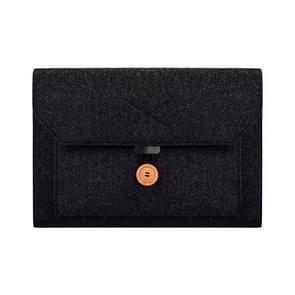 ND06 Multi-purpose Felt Button Laptop Inner Bag for 12.5 inch laptop (Black)