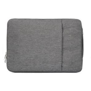 Modieus universeel 15.4 inch Denim Laptoptas Pouch met rits voor MacBook  Lenovo en andere Laptops  Afmetingen: 39.2 x 28.5 x 2 cm (grijs)
