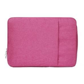 Modieus universeel 15.4 inch Denim Laptoptas Pouch met rits voor MacBook  Lenovo en andere Laptops  Afmetingen: 39.2 x 28.5 x 2 cm (hard roze)