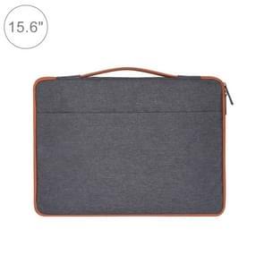 15.6 inch Fashion Casual Polyester + Nylon Laptop Handbag Briefcase Notebook Cover Case, For Macbook, Samsung, Lenovo, Xiaomi, Sony, DELL, CHUWI, ASUS, HP(Grey)