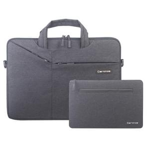 Cartinoe Polyester Waterproof Laptop Handbag + Packet for 13 inch Laptops, with Trunk Trolley Strap (Black)