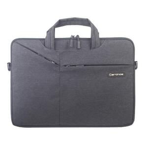 Cartinoe Polyester Waterproof Laptop Handbag for 13 inch Laptops, with Trunk Trolley Strap (Black)