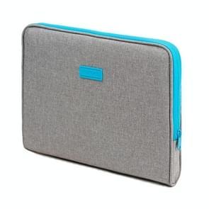 POFOKO A220 Series 15 6 inch waterdichte polyester laptoptas  maat: 41 5 x 28 5 x 2 5 cm (lichtgrijs)