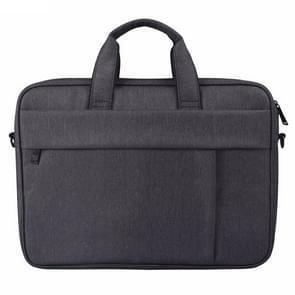 DJ03 Waterproof Anti-scratch Anti-theft One-shoulder Handbag for 14.1 inch Laptops, with Suitcase Belt(Black)
