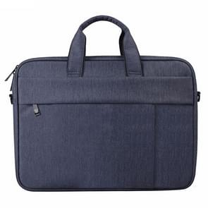 DJ03 Waterproof Anti-scratch Anti-theft One-shoulder Handbag for 14.1 inch Laptops, with Suitcase Belt(Navy Blue)