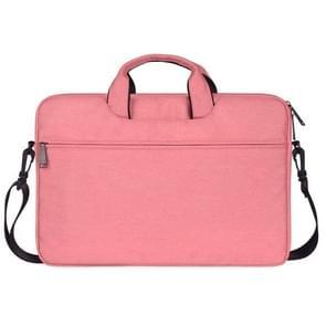 ST01S waterdichte Oxford doek verborgen draagbare riem een-schouder handtas voor 14 1 inch laptops (roze)