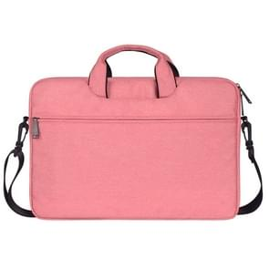ST01S Waterproof Oxford Cloth Hidden Portable Strap One-shoulder Handbag for 14.1 inch Laptops(Pink)