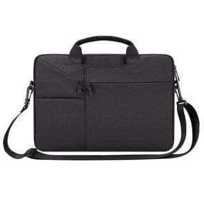 ST02S waterdichte scheurweerstand verborgen draagbare riem One-schouder handtas voor 15 6 inch laptops  met koffer gordel (zwart)