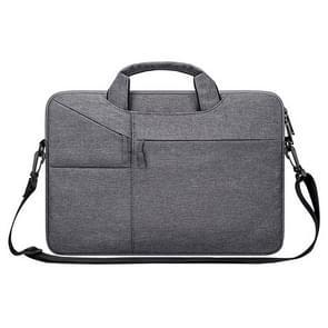 ST02S waterdichte scheurweerstand verborgen draagbare riem One-schouder handtas voor 15 6 inch laptops  met koffer gordel (donkergrijs)