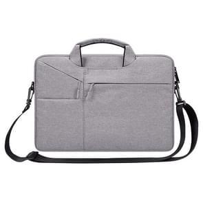 ST02S waterdichte scheurweerstand verborgen draagbare riem One-schouder handtas voor 15 6 inch laptops  met koffer gordel (lichtgrijs)