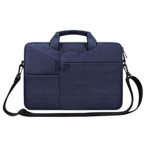 ST02S waterdichte scheurweerstand verborgen draagbare riem One-schouder handtas voor 15 6 inch laptops  met koffer gordel (marineblauw)