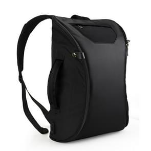 WIWU 15.6 inch Large Capacity Fashion Leisure Fingerprint Lock Backpack Travel Computer Bag V2 (Black)