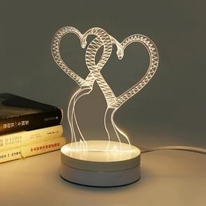 3D LED Night Light, Creative 3D White / Warm White / Yellow Light Changing LED Desk Lamp