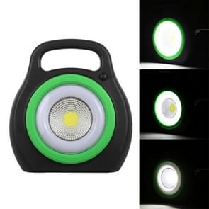 5W Mini Portable COB LED Work Light, 2 -Levels Dimming Outdoor Emergency Light with Handle (White Light)