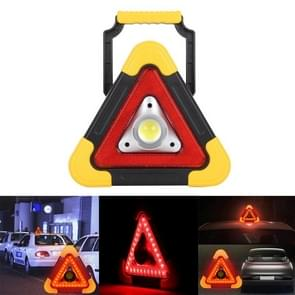 HB-6609 10W Multi-function Portable Triangle Shape Red Light COB LED Work Light, 500 LM Outdoor Emergency Warning Light with Holder for Mountaineering, Mined Underground, Fishing, Repair