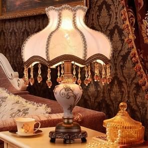 European Style Retro Bedroom Warm White Light Bedside Lamp
