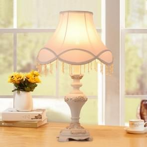 European Style Classical Carving Decoration Bedroom Warm White Light Bedside Lamp