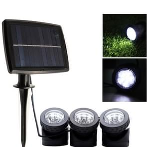 Three Heads LED Outdoor Waterproof Solar Underwater Spotlight Floodlight