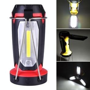 Multifunctionele USB-oplaading campinglamp buitentent draagbare lamp zaklamp tafellamp (rood)