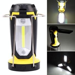 Multifunctionele USB-oplaading campinglamp buitentent draagbare lamp zaklamp tafellamp (geel)