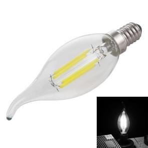 C35 E14 4W 4 LEDs 300 LM 6500K dimbaar retro LED filament gloeilamp energiebesparend licht  AC 220V (wit licht)