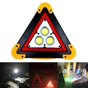 W837 Multi-function Triangle Shape Rechargeable White COB + Red LED Emergency Warning Light