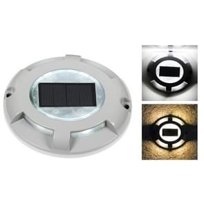 LED High Pressure Resistant Solar Powered Embedded Ground Lamp IP65 Waterproof Outdoor Garden Lawn Lamp, White Light 6000K