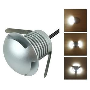 3W LED Embedded Polarized Buried Lamp IP67 Waterproof Turtle Shell Lamp Outdoor Garden Lawn Lamp, White Light 6000K Q1 One-way Light