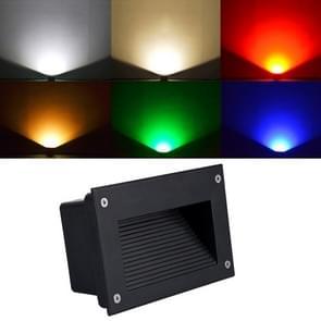 5W groen licht LED ingesloten begraven lamp IP65 waterdicht rechthoekige landschap platform trap stap lamp