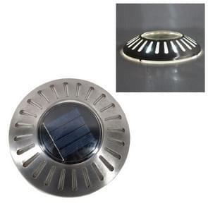 LED roestvrijstaal Solar Powered embedded Ground lamp IP65 waterdicht tuin gazon lamp (wit licht)