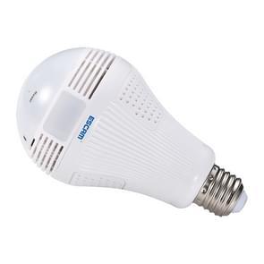 ESCAM QP136 lamp 360 graden VR panoramisch 1.3MP WiFi Camera  de opsporing van de motie van de steun  Alarm  berichten  alarmopname  Screenshot en duwen APP functie