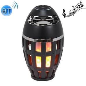 S6 5W Bluetooth V4.2 IP65 Waterproof Portable Flame Atmosphere Stereo Sound Speaker (Black)
