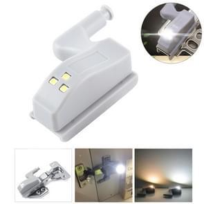 0.3W universele innerlijke scharnier LED Sensor lamp kast 3 LEDs nachtlampje Auto on/off Bulb(White Light)