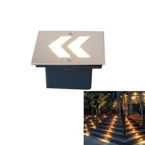 Arrowhead Style Warm White Light 1W Embedded LED Foundation Sign Side Wall Floor Lamp, Size: 70x70cm