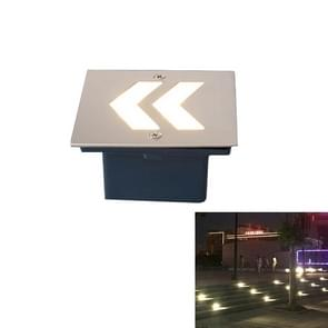 Arrowhead Style White Light 1W Embedded LED Foundation Sign Side Wall Floor Lamp, Size: 105x105cm