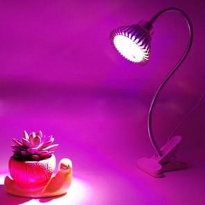 7W Roodlicht + blauwe lichte flexibele Lamp houder Clip stijl LED Plant groei-Light  7 LEDs 360 graden broeikasgassen licht Aquarium licht  AC 85-265V