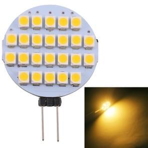 G4 24 LEDs SMD 3528 168LM 2800-3200K Stepless Dimming Energy Saving Light Pin Base Lamp Bulb, DC 12V (Warm White)