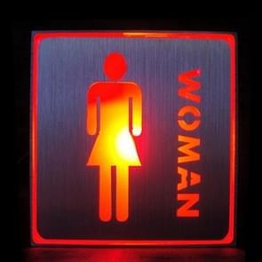 Women WC Toilet LED Sign Indicator Light, Size: 11x11x3.5cm