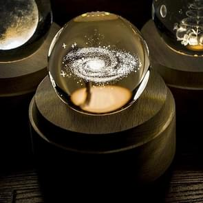 3D Word gravure kristallen bol Melkweg patroon elektronische Swivel muzikale verjaardag cadeau Home decor zonder muziek