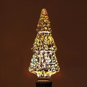 E27 4W IP65 Waterproof Christmas Tree Shape Warm White 3D Fireworks LED Bulb, 2700K 48 LEDs SMD 2835 Vintage Atmosphere Decoration Art Lamp, AC 85-265V
