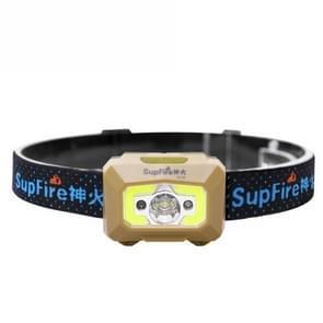 SupFire HL09 5W CREE XPG2 + COB Intelligent Sensor Headlamp, 500 LM 60 Degrees Adjustable Outdoor LED Light with Main Light / Auxiliary Light / Main & Auxiliary Light / Red Light / Red Light Strobe Modes