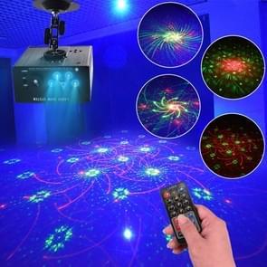 3W RGB Laser licht met afstandsbediening  4-holes projector indoor stage decoratie sfeer licht  ondersteuning auto run/Sound Control  AC 100-240V