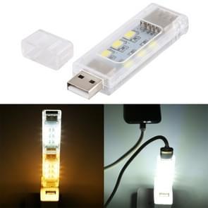 12 LED's Dubbelzijdige stapelbare USB-licht (Wit licht)