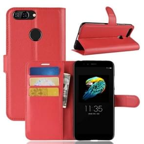 For Lenovo S5 Litchi Texture Horizontal Flip Leather Case with Holder & Card Slots & Wallet (Red)