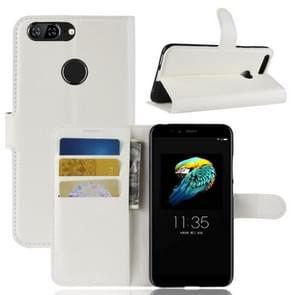 For Lenovo S5 Litchi Texture Horizontal Flip Leather Case with Holder & Card Slots & Wallet (White)