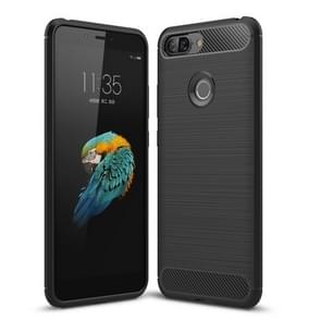 Brushed Texture Carbon Fiber Shockproof TPU Case for Lenovo S5 (Black)