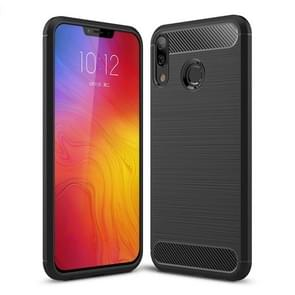 Brushed Texture Carbon Fiber Shockproof TPU Case for Lenovo Z5 (Black)