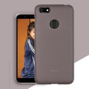 Frosted Translucent TPU Protective Case for Lenovo A5 / L18011 (Grey)