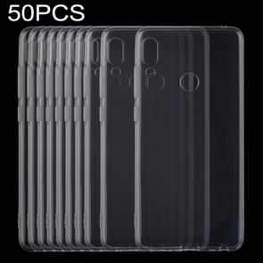 50 PCS 0.75mm Ultrathin Transparent TPU Soft Protective Case for Lenovo K5 Pro