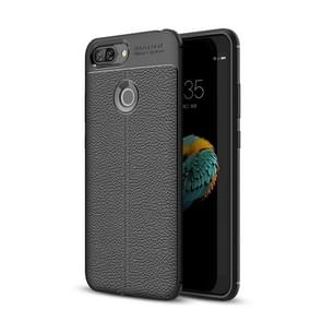 For Lenovo S5 Litchi Texture Soft TPU Protective Back Cover Case (Black)